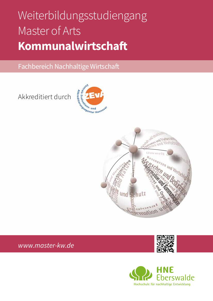 Download der Broschüre für den Master Kommunalwirtschaft (PDF; 0,5 MiB)